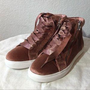 Steve Madden Velvet High Top Sneakers